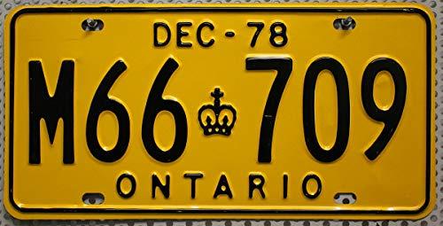 ONTARIO Nummernschild Oldtimer-Kennzeichen # Canada License Plate # Metallschild aus KANADA