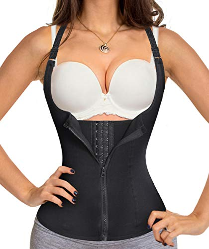 Chumian Donna Corsetto Vita Dimagrante Body Modellante Cintura Intimo Shaper Training Vestiti Shapewear Contenitivo Snellente (Nero, Medium)