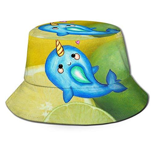 FJXXM Gorra de Pesca de Jugo de limón y Lima, Sombreros de Pescador con Estampado Personalizado para Acampar en la Playa, Vacaciones