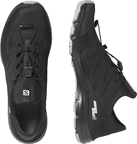 SALOMON Men's Amphib Bold 2 Sneaker, Black/Black/Quarry, 6.5 UK