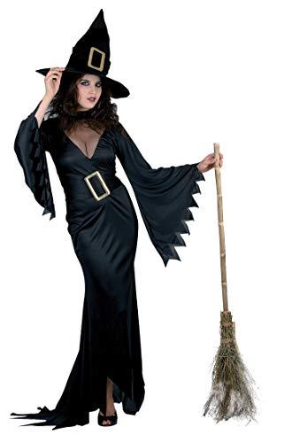Ciao-volwassene kostuum hekse, Zwart, One size, 25979