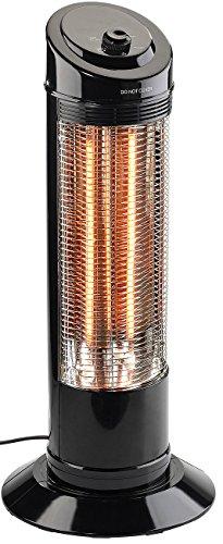 Sichler Haushaltsgeräte Heizstrahler Innenraum: Infrarot-Heizstrahlersäule mit Oszillation, 600/1.200 Watt (IR Strahler)