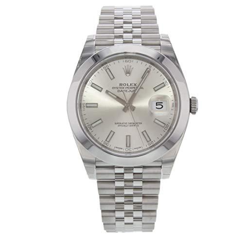Rolex Datejust 126300SSJ - Reloj automático para hombre con esfera plateada