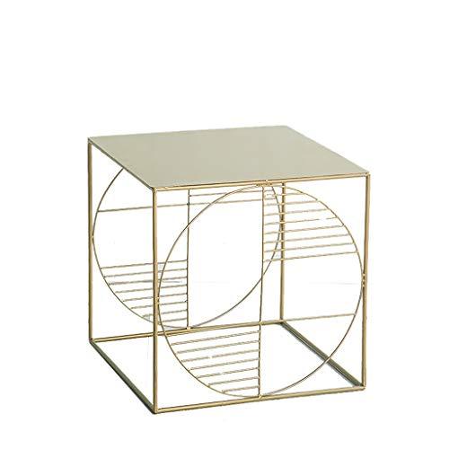 LSX - salontafel kleine salontafel, nachtkastje smeedijzeren kant een paar Scandinavische bank zijkast hoek kleine vierkante tafel bijzettafel eenvoudige moderne salontafel (3 stijlen). bijzettafel