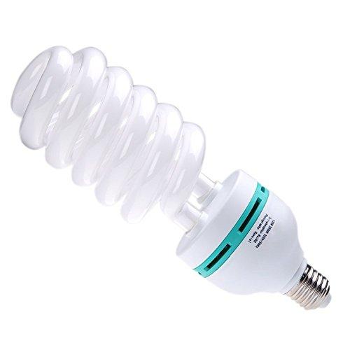 TOOGOO(R) E27 220V 5500K 135W Fotostudio Bulb Video Fotografie Helle Tageslichtlampe Weiss