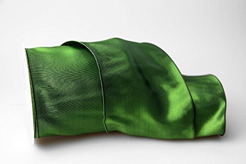 Christa-Bänder Uniband Dunkelgrün mit Draht 100mm