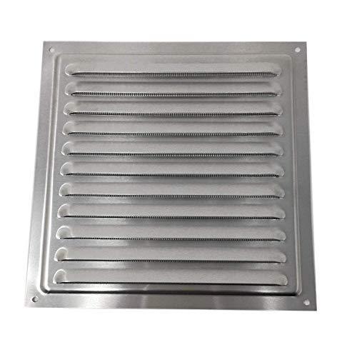 METAL LÜFTUNGSGITTER mit INSEKTENSCHUTZ Ventilation Gitter Abluft / Zuluft Entlüftung Belüftung (300x300mm, Zink)
