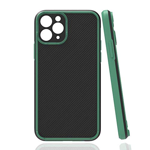 KANGHAR Compatible with iPhone 12 Pro Max Rugged Case Camera Lens Protector Heavy Duty Non Slip Slim Hard Cover Shockproof Protective Case Support Wireless Charging for iPhone 12 Pro Max 6.7 Green