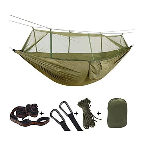 YMDA 1-2 Personas portátil al Aire Libre Acampada Hamaca, Hamaca Ultraligera Anti-Mosquito, Hamaca de Tela de Alta Resistencia, Swing para Dormir
