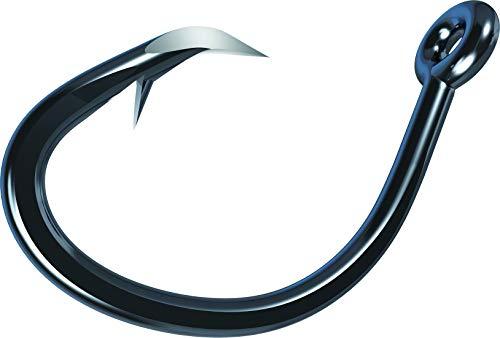 Eagle Claw TK619H-12/0 Trokar Magnum 619' Circle Offset Hook, Black/Chrome Finish