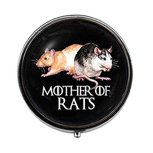 Hermosa caja de pastillero de madre de ratas, caja de caramelos, joyería...
