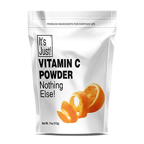 It's Just - Vitamin C Powder, 100% Pure Ascorbic Acid, Non-GMO, Immune Support, Homemade Cosmetics (11oz)