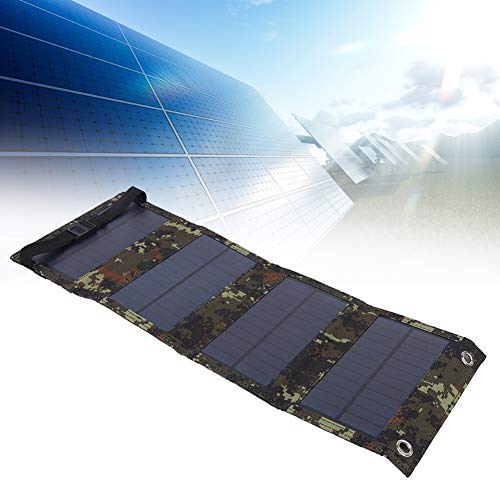 Oumefar Fuentes de energía Solar Panel Solar, Cargador Solar Resistente al Agua, ecológico y...