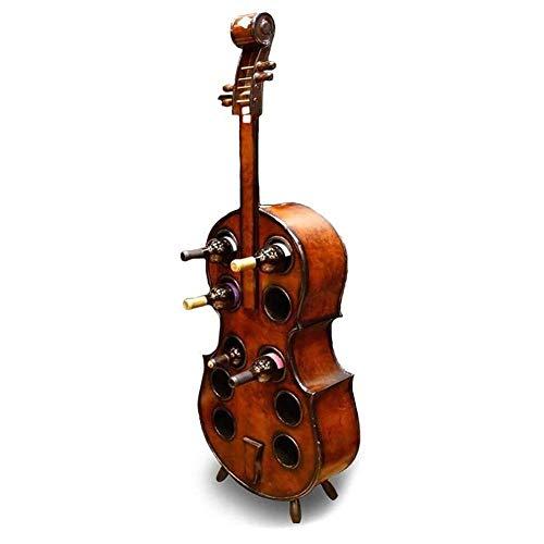 Kreative Weinschrank Violine Design Weinschrank Hölzerne kreative Cello Weinregal 14CM Kann 10 Flaschen Wein setzen