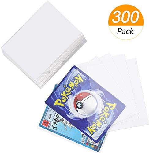 Homgaty - 300 fundas para cartas estándar, protectores transparentes para baraja de Pokémon, magia, MTG, The Gathering, juegos de mesa, Yu-Gi-Oh