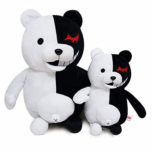 Bofum Danganronpa Monokuma Plüsch Puppe Schwarz-Weiss Bear Kuscheltiere Plüschtiere Cosplay Geschenke für Kinder