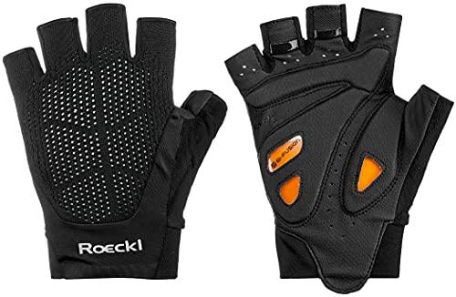 Roeckl Icon - Guantes de ciclismo (talla 7.5), color negro