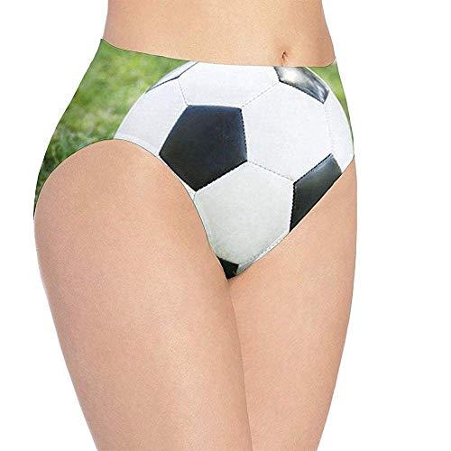 Adamitt Balón de fútbol para Mujer en Ropa Interior con Estampado herboso, Braguitas de Hipster Lindo para niñas