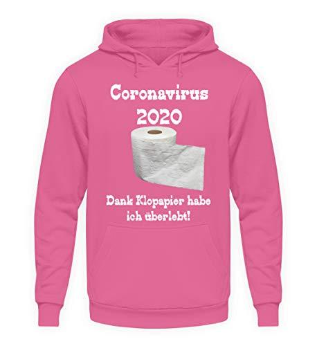 generisch Coronavirus 2020 – gracias al papel higiénico he sobrevivido. - Sudadera unisex con capucha. rosa claro XL