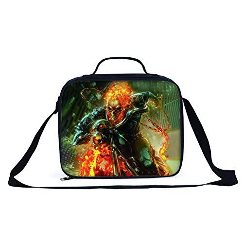 Ghost Rider Equipaje Mochila popular de los estilos Mochila de alta capacidad Daypack Adecuado para niños y niñas Bolsa de viaje con estilo al aire libre de chicos y niñas bolsa de viaje escolar portá