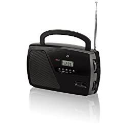 GPX, Inc. R633B Portable Shortwave AM/FM Clock Radio (Black)