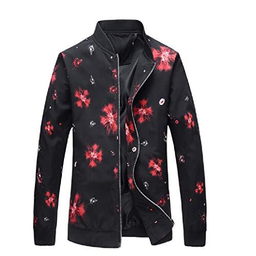 Brizz heren sportkleding herfst winter print staande kraag jas baseballuniform met ritssluiting outwear coat top blouse mode pullovern vrijetijdshemden heren gebreide jassen
