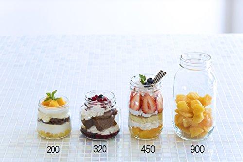 『アデリア ガラス びん 保存瓶 クリア 925ml ダブルキャップ 3個セット 日本製 M-6657』のトップ画像