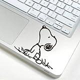 スヌーピー snoopy アートステッカー Macbook/ipad等 トラックパッド対応 PCスキンシール  wsb80 [並行輸入品]