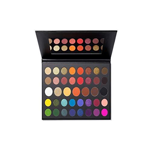 Morphe x James Charles The Mini Paleta – 39 sombras de ojos y pigmentos prensados – Perfecto para On-The-Go Glam – Matte, Metálico y Brillo