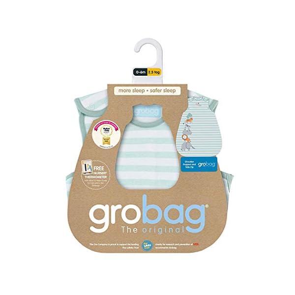 The Gro Company – Saco de dormir para bebé con motivos de animales de la selva azul Talla:6-18 Months