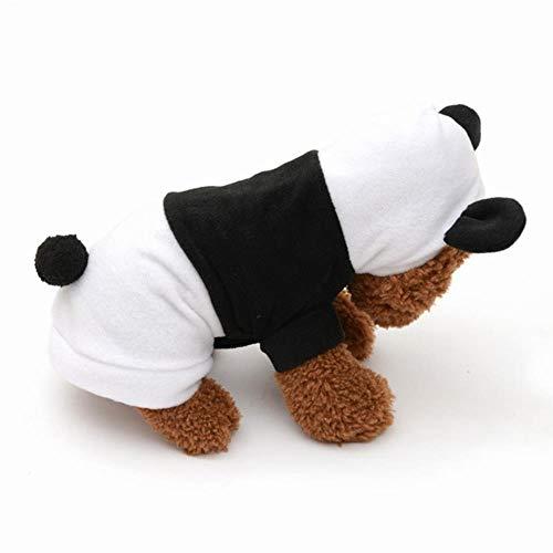 FHKGCD Honden Kleding Leuke Cartoon Panda Ontwerp Cosplay Huisdieren Kostuum Hond Kleding Voor Katten Puppy Hoodie Warm Hond Jas