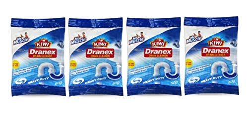 KIWI Mr. Muscle Dranex Drain Cleaner 50 g Pouch (Pack of 4)