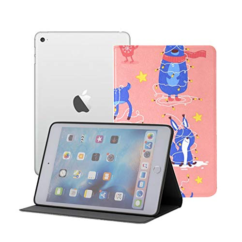 iPad Mini 1/2/3 Case - 360 Degree Rotating Stand Smart Cover Case with Auto Sleep Wake Feature,Christmas Happy New Year Holidays