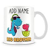 Big Brother Mug - Personalised Dinosaur Cup Gift with Name