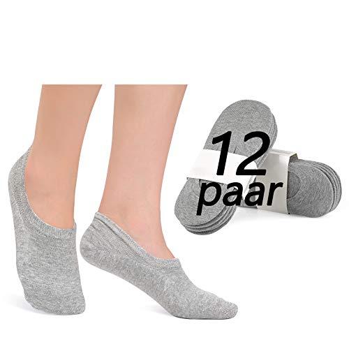 YouShow Sneaker sokken dames heren 12 paar sokken onzichtbaar Footies unisex