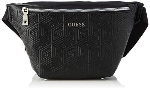 Guess Baldo Bum Bag, Backpack Uomo, Black, One Size