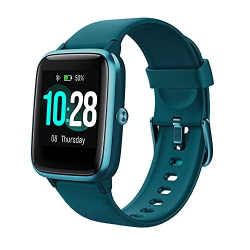 WANJUN Reloj Inteligente, Compatible con Teléfonos iPhone Samsung E iOS Android, Frecuencia Cardíaca, Rastreador De Ejercicios con Oxígeno En Sangre, Función Impermeable Ip68,Verde