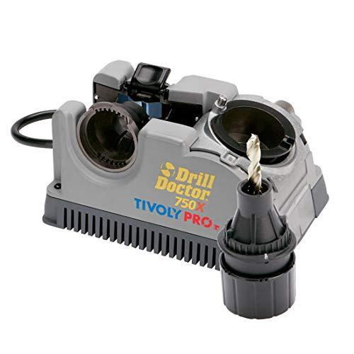 Tivoly Drill Doctor 750 - Afiladora de brocas (de 2,5 a 19 mm, punta 118º y 135º)
