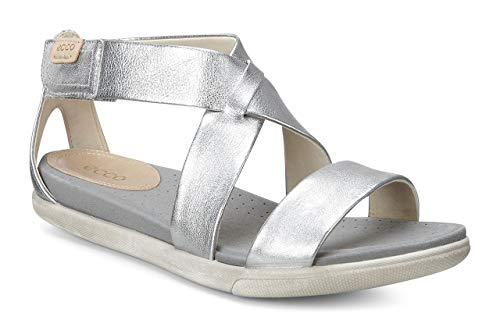 ECCO Women's Damara Strap Sandal, Silver, 36 EU/5-5.5 M US