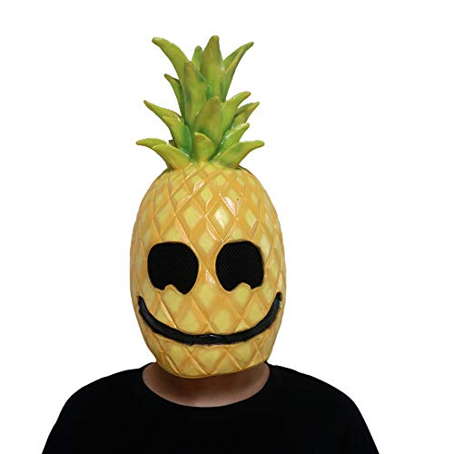 Hpparty Ananas Latex Masker Halloween Fruit Helm Cosplay Kostuum Accessoire