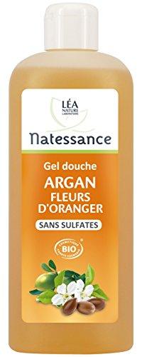 Natessance Hygiène Douche Cream Argan Fleur D'oranger sans Sulfates - Bio - 500 ml