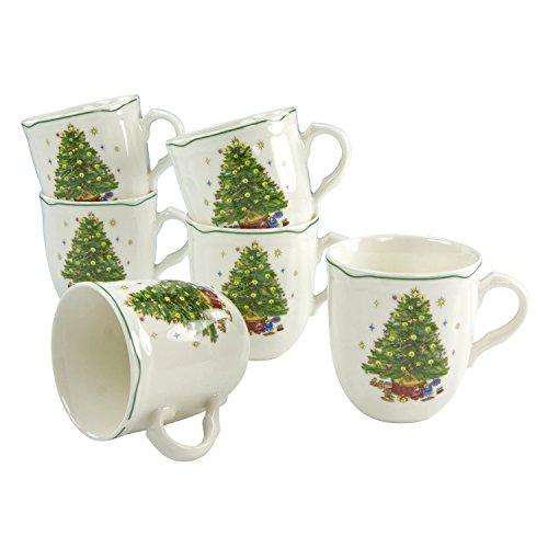 Creatable 16191Taza de café, Porcelana, 6Piezas, Multicolor, 31x 24x 12cm