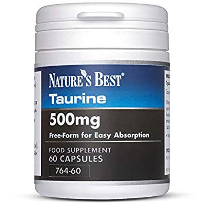 Taurine 500mg- pure, free form state- UK-made, 60 capsules