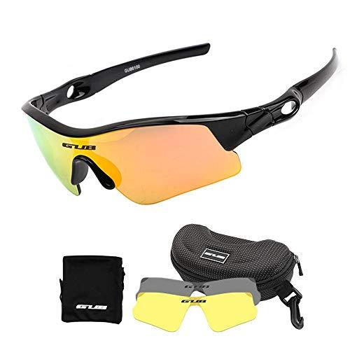 Hamkaw Kinder-Fahrradbrille, polarisierte Sport-Sonnenbrille mit 2 austauschbaren Gläsern, UV400 Augenschutzbrille, unzerbrechlicher Rahmen für Jungen und Mädchen, Laufen, Angeln, Skifahren