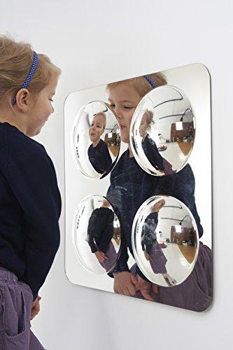Tickit 72406grande specchio acrilico 4-domed pannello