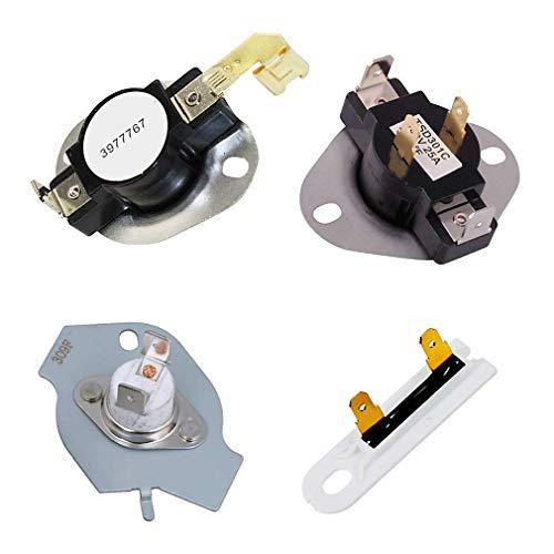 3387134 Thermost 3977767 - Termostato térmico para secadora Whirlpool Kenmore KitchenAid sustituye a las piezas 33977767VP WP3977393 WP3977767VP WP3977393