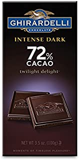 Ghirardelli Chocolate Intense Dark Bar, Twilight Delight 72% Cacao, 3.5-Ounce