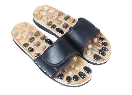 TONGTONG Zomer Mannen Thuis Pedicure Slippers Natuurlijke Jade Cobblestone Mannen Massage Slippers Indoor Non-Slip Jongen Sandalen