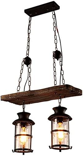 candelabro LQ 2 lámpara lámpara luz Industrial araña rústica araña Fija Madera labrado araña Marco metálico con sombrilla sombrilla lámpara de Techo Isla Cocina Interior Accesorio Interior