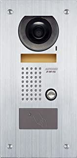 Aiphone JF-DVF-HID Vandal-Resistant Flush-Mount Audio/Video Door Station with HID Card Reader for JF Series Intercom System, Stainless Steel Faceplate